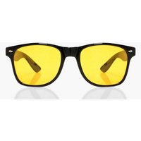 boohoo Yellow Lens Retro Sunglasses - yellow