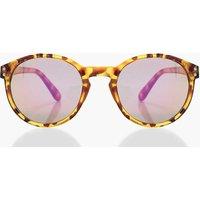 Plastic Frame Sunglasses - brown