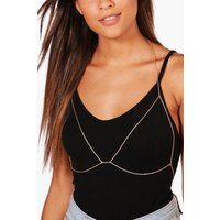 Chain Triangle Bralet Body Chain - gold