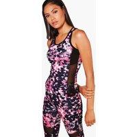 Fit Mesh Insert Gym Vest - pink
