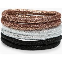 Metallic Hair Bobbles 6pk - metal