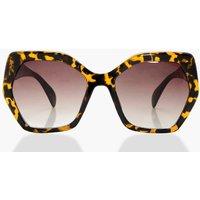 Tortoise Shell Oversized Sunglasses - dark brown