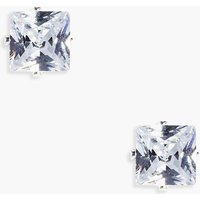 Diamante Stud Earrings - silver