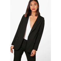 Premium Tailored Blazer - black