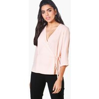 Wrap Over Tie Top - nude
