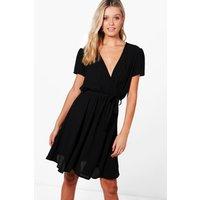 Woven Tea Dress - black