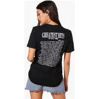 Paragraph Slogan Oversized T-Shirt - black