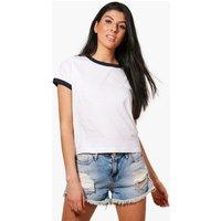 Contrast Ringer T-Shirt - white