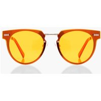 Mirrored Retro Sunglasses - yellow