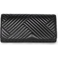 Quilted Clutch Bag - black