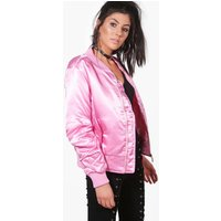 Satin MA1 Bomber - pink