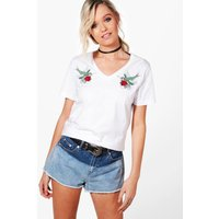 Swallow Embroidered Tee - multi