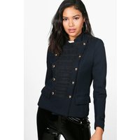 Boutique Military Jacket - navy