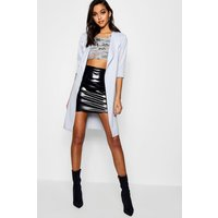 Long Sleeve Belted Duster - grey