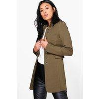 Longline Military Jacket - khaki
