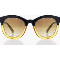 Contrast Frame Cat Eye Sunglasses - brown