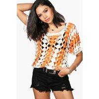 Crochet Knit Top - orange