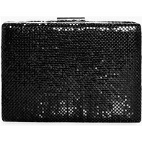 Chainmail Box Clutch Bag - black