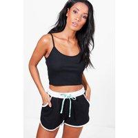 Contrast Binding Shorts - black
