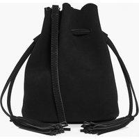 Suedette Duffle Bag - black