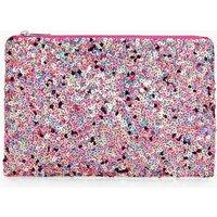Multi Sequin Clutch Bag - pink