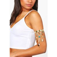 Boutique Embellished Upper Arm Cuff - gold
