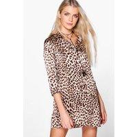 Leopard Print Shift Dress - multi