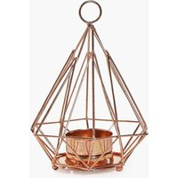 Pyramid Candle Holder - bronze