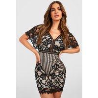 Bea All Over Lace Bodycon Dress - black