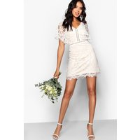 Bea All Over Lace Bodycon Dress - ivory
