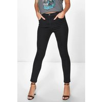 5-Pocket High Rise Skinny Jeans - black