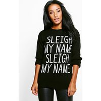 Sleigh My Name Christmas Jumper - black