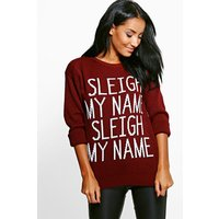 Sleigh My Name Christmas Jumper - wine