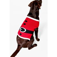 Father Christmas Suit Dog Jumper - red
