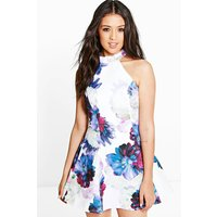 Ria Floral Print Woven Skater Dress - multi
