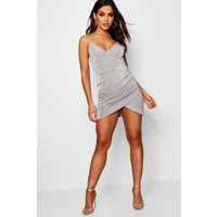 Double Strap Bodycon Dress - grey