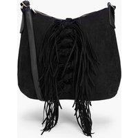 Tassel Shoulder Day Bag - black