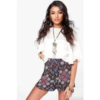 Boho Print Flippy Shorts - multi
