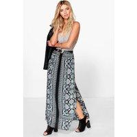 Printed Maxi Skirt - multi