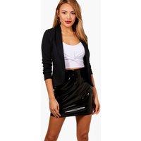 Lapel Jersey Blazer - black