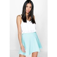 Fit And Flare Skater Skirt - blue