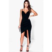 Detail Strappy Bodycon Dress - black