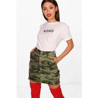 XOXO Slogan T-Shirt - white