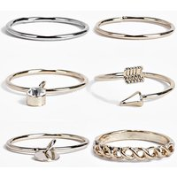 Mixed Fine Ring Pack - multi