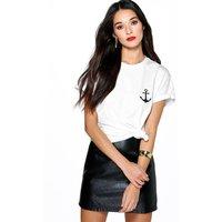 Anchor Print T-Shirt - white