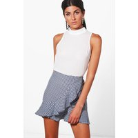 Woven High Neck Swing Top - ivory