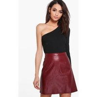 Leather Look A Line Mini - berry