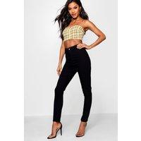 Stretch High Waist Jeans - black