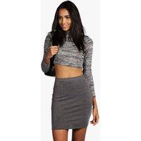 Maisy Mini Skirt - charcoal
