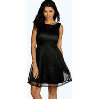 Sarah Oversized Mesh Prom Dress - black